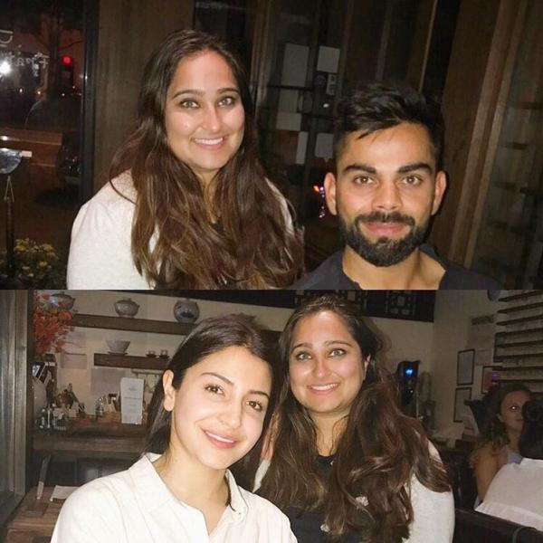विराट कोहली और अनुष्का शर्मा ने फैन्स के साथ सेल्फी क्लिक कराते हुए