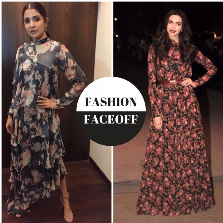 Fashion Faceoff: अनुष्का शर्मा या दीपिका पादुकोण, किसने पहनी है फ्लोरल हाई नेक मैक्सी ड्रेस बेहतर?