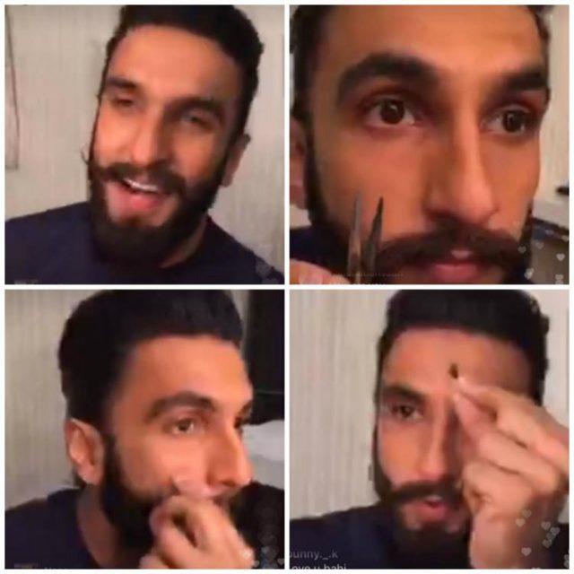 OMG: पद्मावती के लिए रणवीर सिंह ने काट दी अपनी मूंछें, देखिये VIDEO