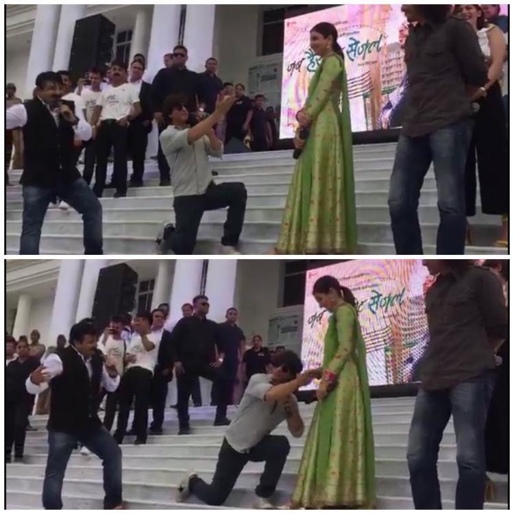 शाहरुख़ खान ने गाया लोलीपॉप लागेलु तो अनुष्का शर्मा ने दिया ये रिएक्शन