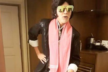 शिल्पा शेट्टी नज़र आयीं अमिताभ बच्चन के अवतार में