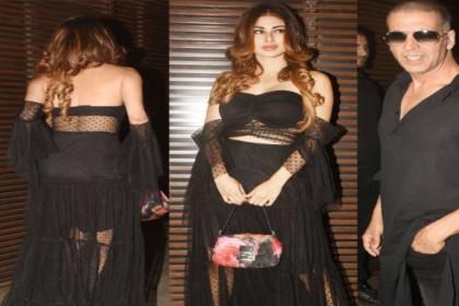 गोल्ड की पार्टी में मौनी रॉय ने पहनी बैकलेस ड्रेस, अक्षय कुमार भी मौजूद