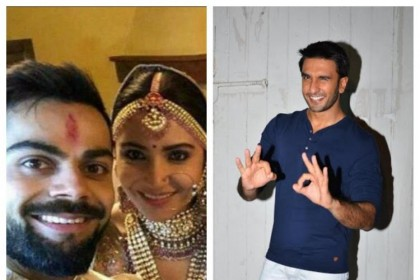 रणवीर सिंह ने लाइक किया है अनुष्का विराट की शादी वाला पोस्ट