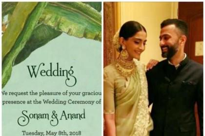 सोनम कपूर की शादी की कार्ड में छुपा है ये राज़