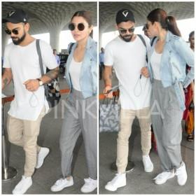 एअरपोर्ट पर विराट कोहली और अनुष्का शर्मा का स्टाइलिश अंदाज़ देखते ही रह जायेंगे