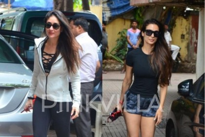 करीना कपूर खान और मलाइका अरोरा खान दोनों को जिम के बाद स्पॉट किया गया|