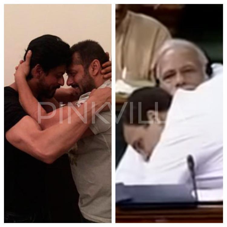 राहुल ने मोदी को दी जादू की झप्पी, हंस उठा सदन, हैरान रह गया देश, याद आया शाहरुख़-सलमान का मिलन!