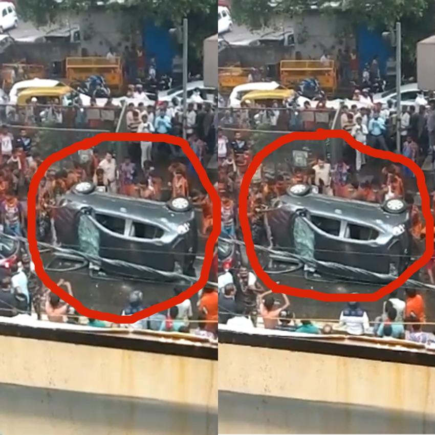 कांवड़ियों के उत्पात का दिल दहला देने वाला वीडियो, कार तोड़कर सड़क पर मचाया उत्पात
