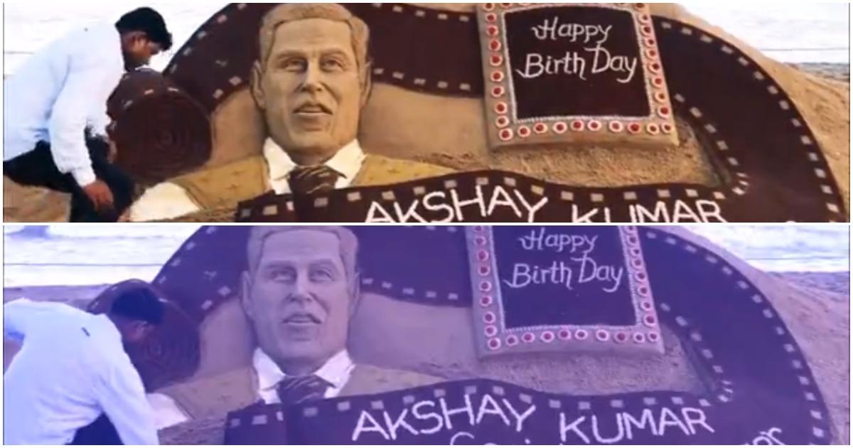 Birthday Spl : अक्षय कुमार को मिला स्पेशल बर्थडे गिफ्ट, खिलाड़ी कुमार का ये सैंड स्टेच्यू देखकर होंगे दंग