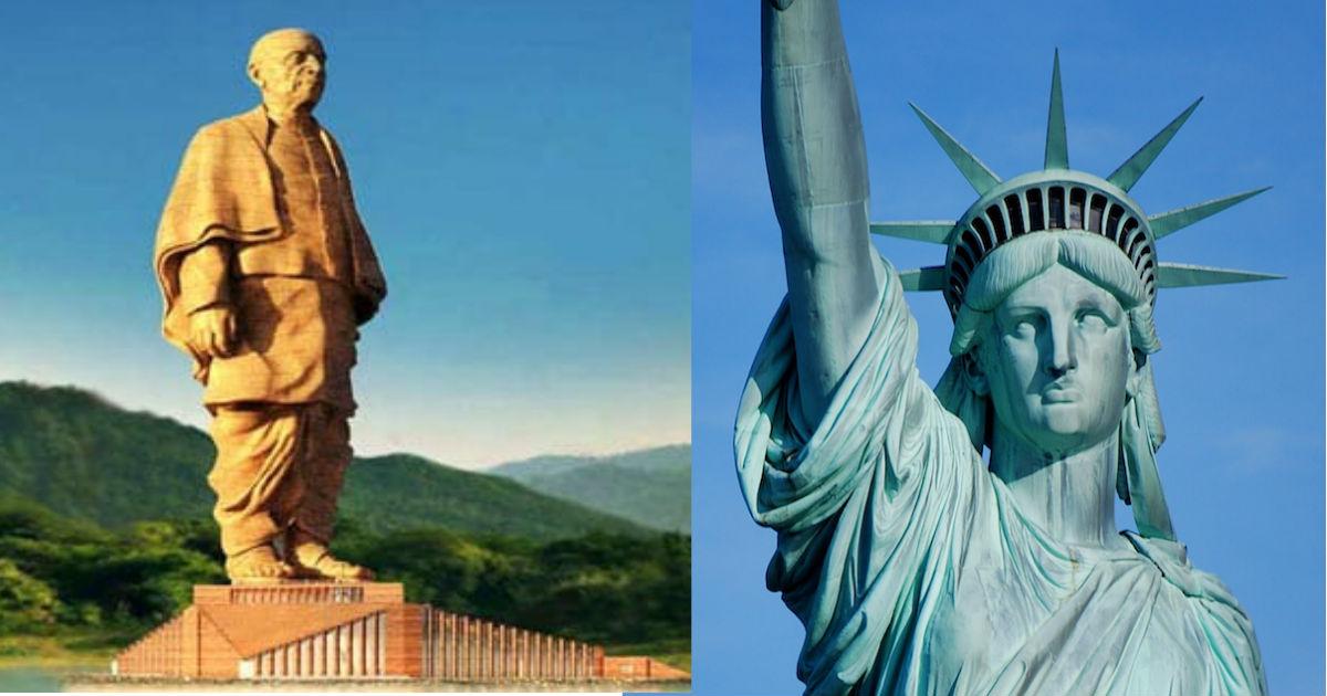 'स्टेच्यू ऑफ लिबर्टी' सहित इन मूर्तियों को पीछे छोड़ 'स्टैच्यू ऑफ यूनिटी' ने हासिल किया ये बड़ा मुकाम