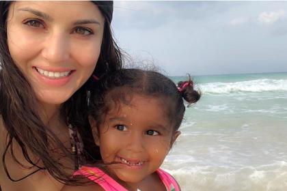 सनी लियोन ने बेटी के बर्थडे पर लिखा प्यारा मैसेज, शेयर की ये क्यूट तस्वीर