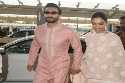 वेडिंग रिसेप्शन के बाद पैरेंट्स के साथ मुंबई लौटे दीपवीर, बेंगलुरु एयरपोर्ट पर यूं हुए स्पॉट
