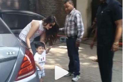 बिल्ली के पास तैमूर अली खान को देख डरीं करीना कपूर, VIDEO देख सहम जाएंगे आप!
