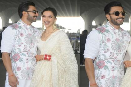 DeepVeer Wedding Reception: मुंबई से बेंगलुरु के लिए रवाना हुए दीपिका पादुकोण-रणवीर सिंह, देखें तस्वीरें