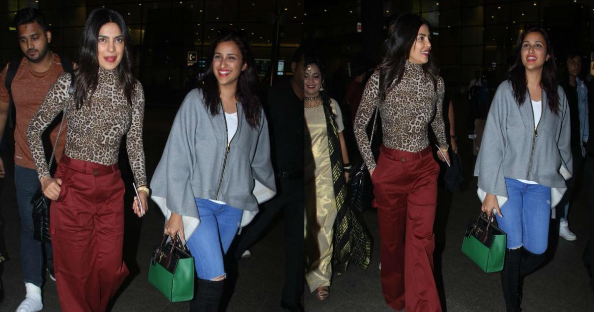 एम्सटर्डम में शानदार बैचलर पार्टी कर मुंबई वापस लौटी प्रियंका चोपड़ा- परिणीती चोपड़ा