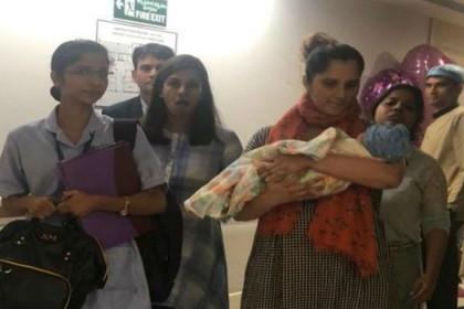 मां बनने के बाद पहली बार सामने आई सानिया मिर्जा की तस्वीर, गोद में दिखे इजान