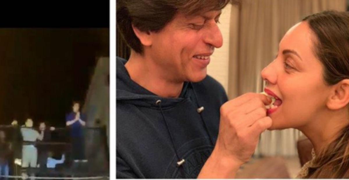 शाहरुख खान ने गौरी को केक खिलाकर मनाया जन्मदिन, आधी रात को लगा मन्नत के बाहर फैंस का जमावड़ा