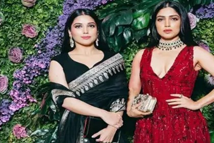 Bhumi Pednekar Photos with sister Samiksha Pednekar