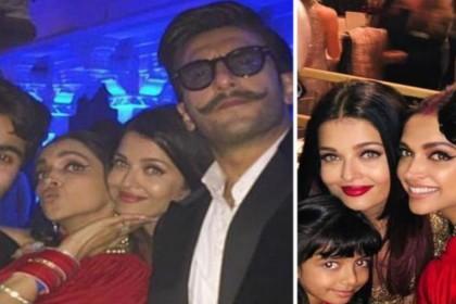 Ranveer Singh Deepika Padukone Aishwarya Rai Bachchan video at Isha Ambani sangeet