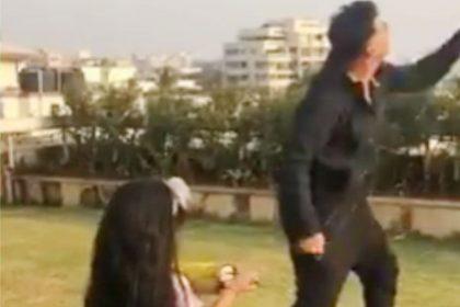 Akshay Kumar with her daughter Nitara flying kite video viral