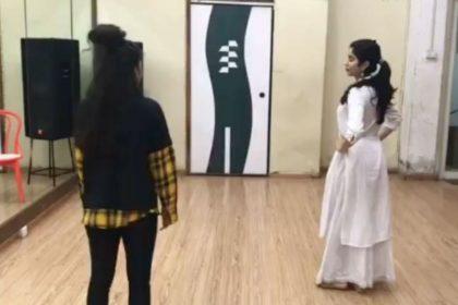 Janhvi Kapoor dance video viral