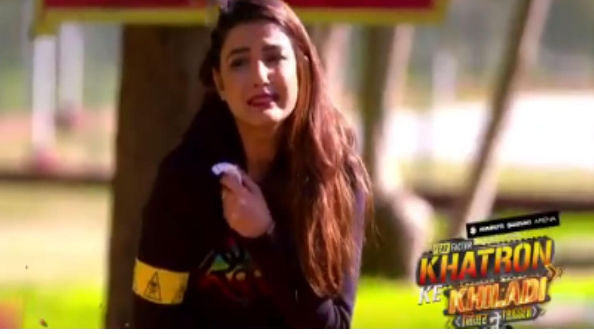 खतरों के खिलाड़ी 9: रोहित शेट्टी के दिए टास्क से जैस्मिन भसीन के निकले आंसू, डरते हुए बोलीं- मैं मर जाऊंगी