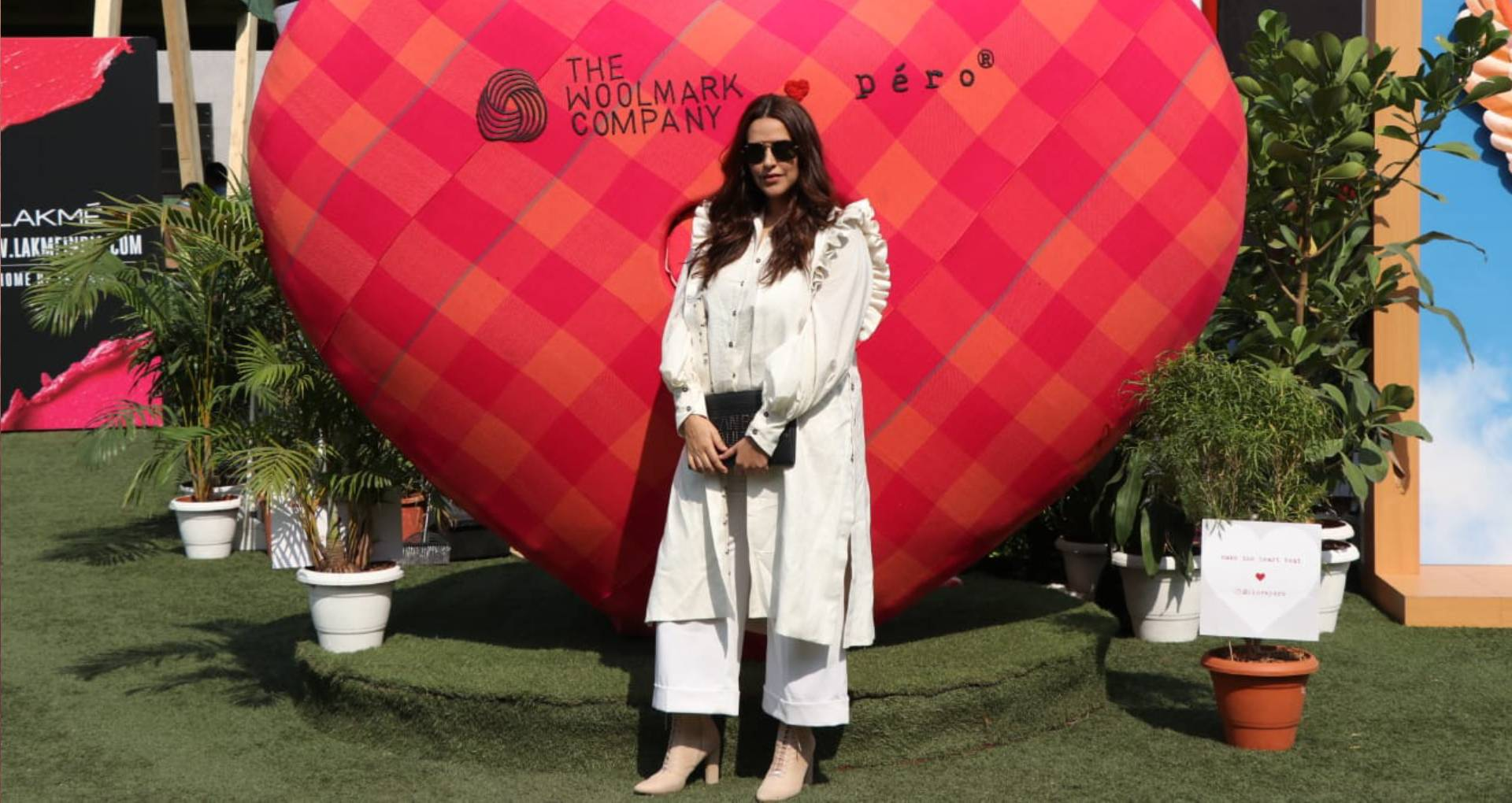 Neha Dhupia at Lakme Fashion Week 2019