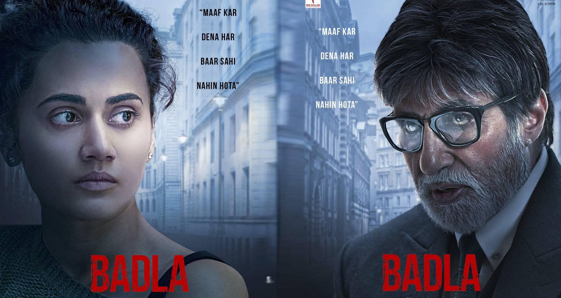 तापसी पन्नु-अमिताभ बच्चन फिल्म बदला में एक साथ फिर आएंगे नजर, शाहरुख खान ने शेयर किए दो पोस्टर