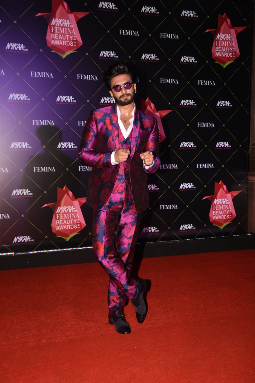 Nykaa Femina Beauty Awards Ranveer Singh 2