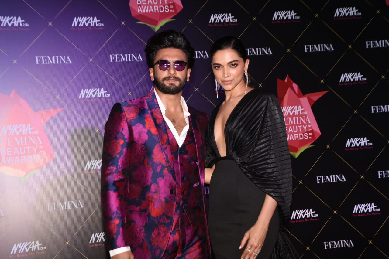 Nykaa Femina Beauty Awards Ranveer Singh Deepika Paduokone 2