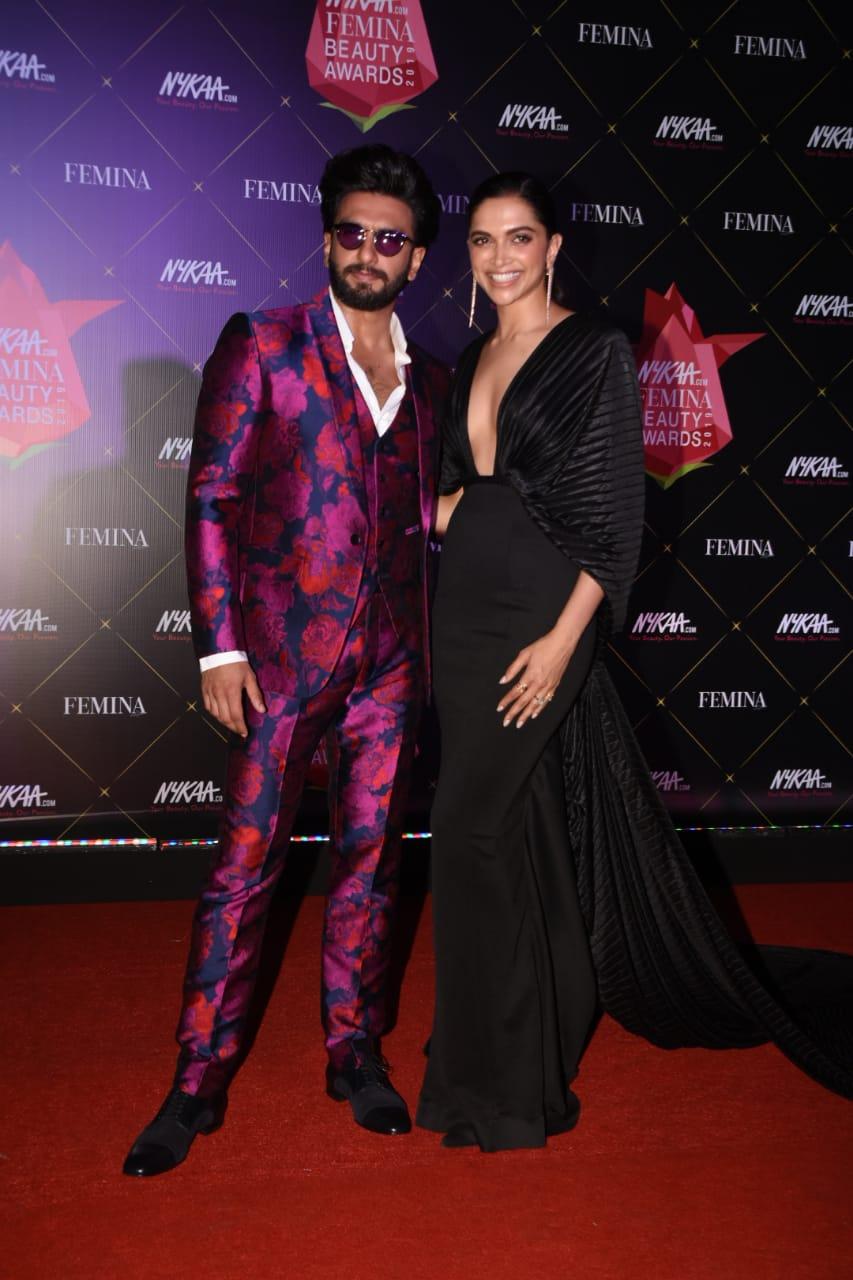 Nykaa Femina Beauty Awards Ranveer Singh Deepika Paduokone 4