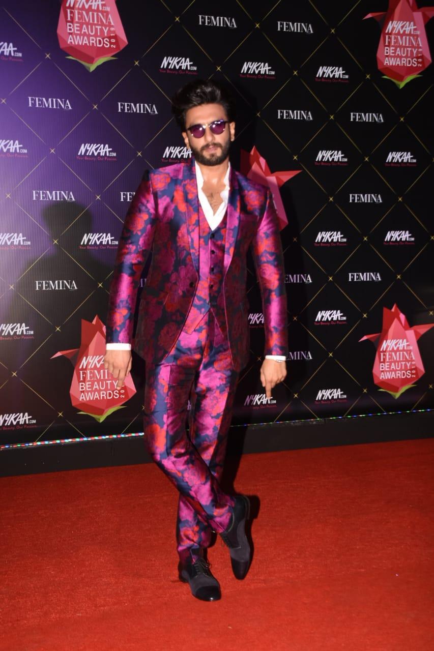 Nykaa Femina Beauty Awards Ranveer Singh