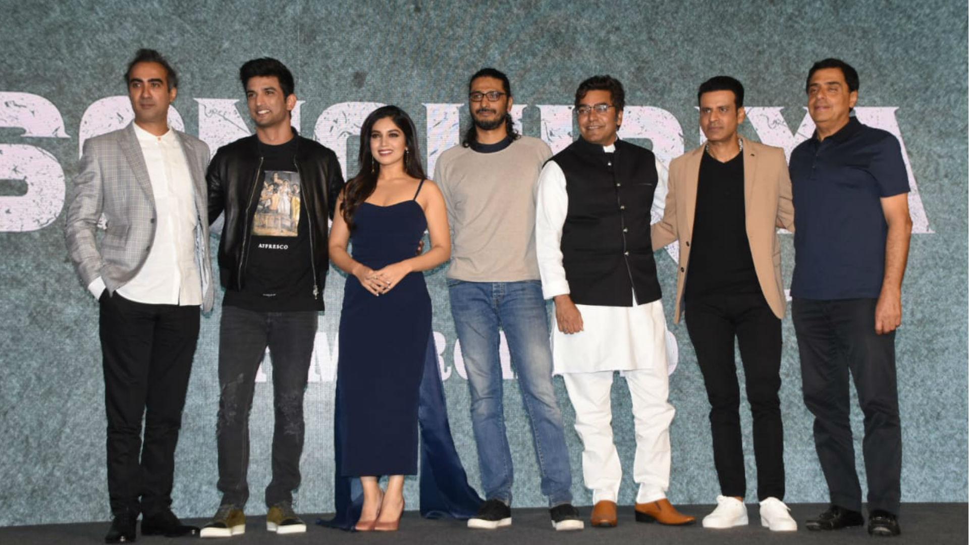 फिल्म सोनचिड़िया के बारे में बताने चंबल से आए सुशांत सिंह राजपूत, मनोज बाजपेयी, भूमि पेडनेकर और आशुतोष राणा