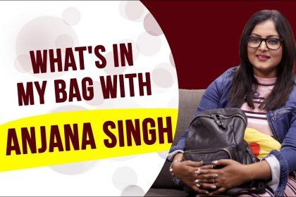 भोजपुरी एक्ट्रेस अंजना सिंह के हैंडबैग में रहती हैं ये चीजें, बोलीं- इनके बगैर नहीं रह सकती हूं