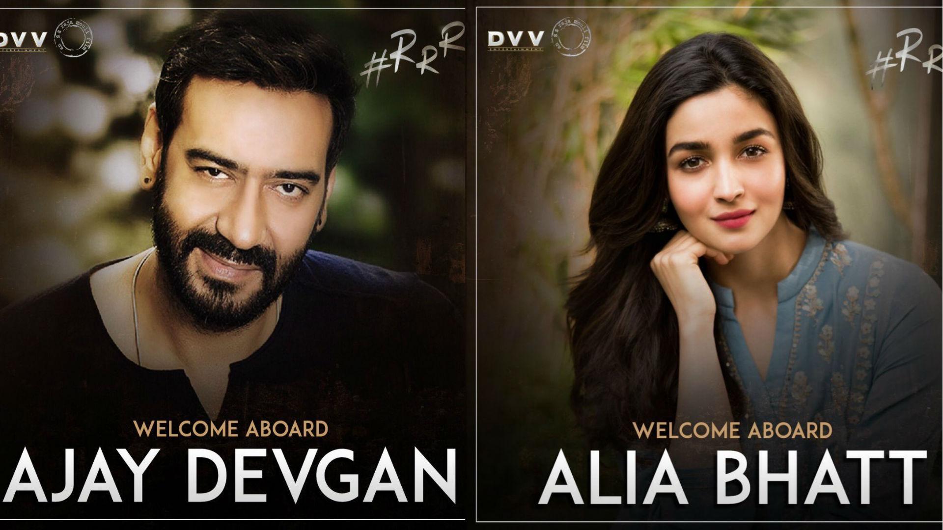 राजामौली की फिल्म आरआरआर में अजय देवगन-आलिया भट्ट की एंट्री, साउथ के 2 सुपरस्टार भी दिखाएंगे देशभक्ति