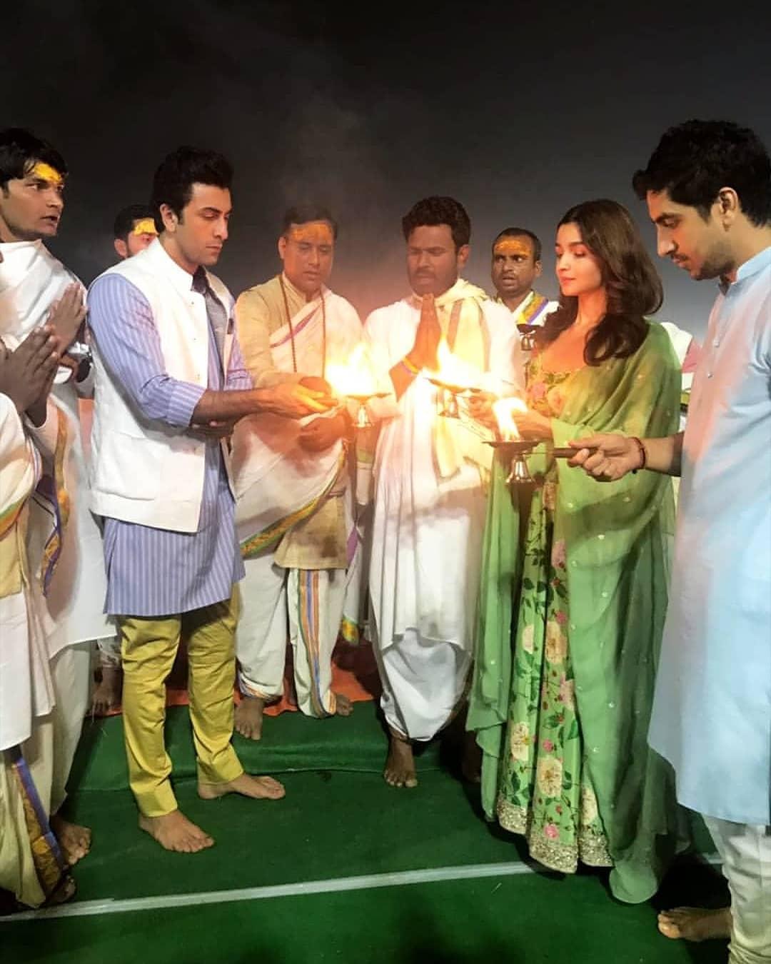 Alia Bhatt Ranbir Kapoor aarti
