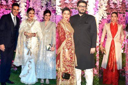 Bollywood Stars in Akash Ambani Shloka Mehta Reception Party