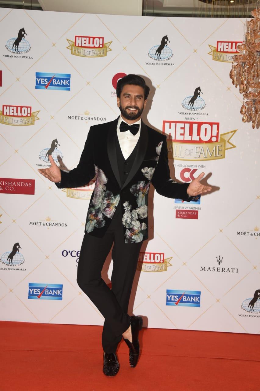 Hall Of Fame Award 2019 Ranveer Singh