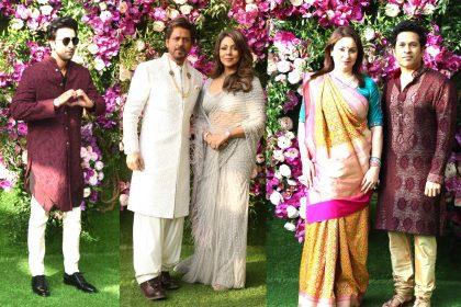 Karan Johar Ranbir Kapoor in Akash Ambani Shah Rukh Khan Sachin Tendulkar Shloka Mehta Wedding