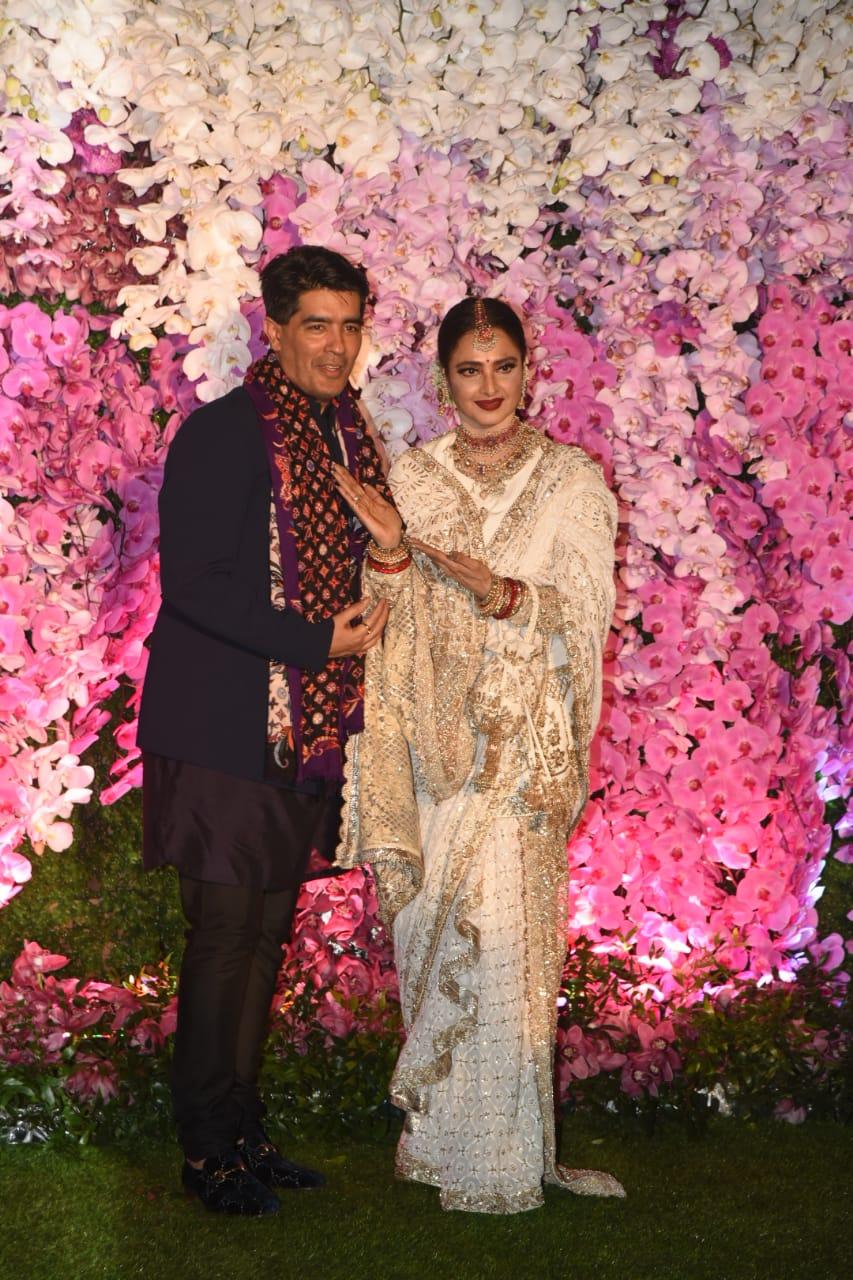 Manish Malhotra Rekha Akash Ambani Shloka Mehta Wedding