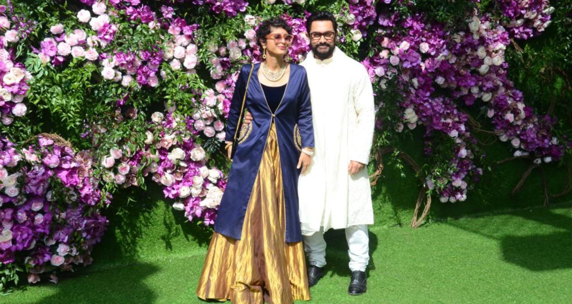 आकाश अंबानी-श्लोका मेहता की शादी में दिखा आमिर खान और किरण राव का स्टाइलिश अंदाज, देखिए इनकी तस्वीरें