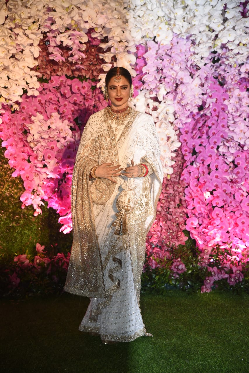 Rekha Akash Ambani Shloka Mehta Wedding