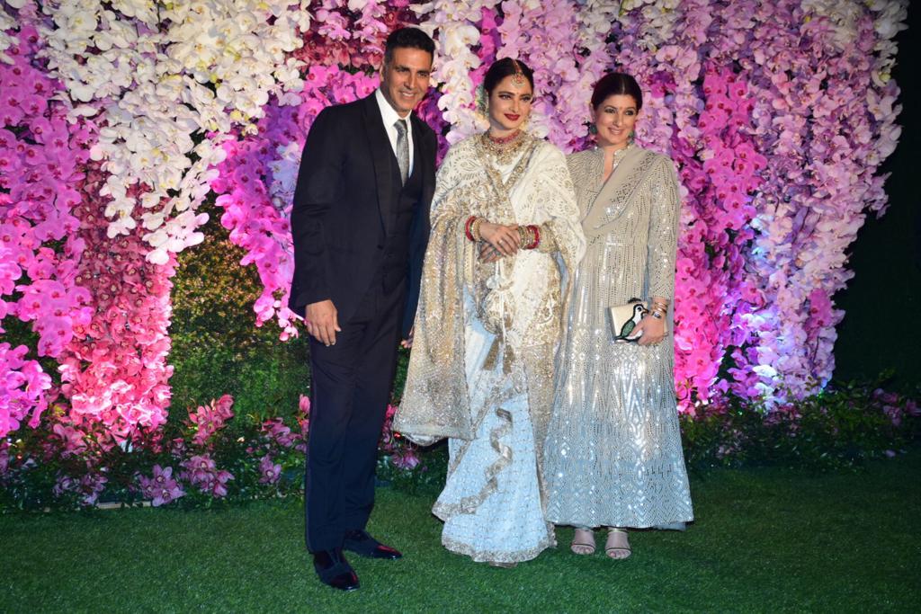 Rekha Akshay Kumar Twinkle Khanna Akash Ambani Shloka Mehta Wedding