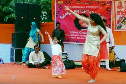 Sapna choudhary dance video little girl dance video viral