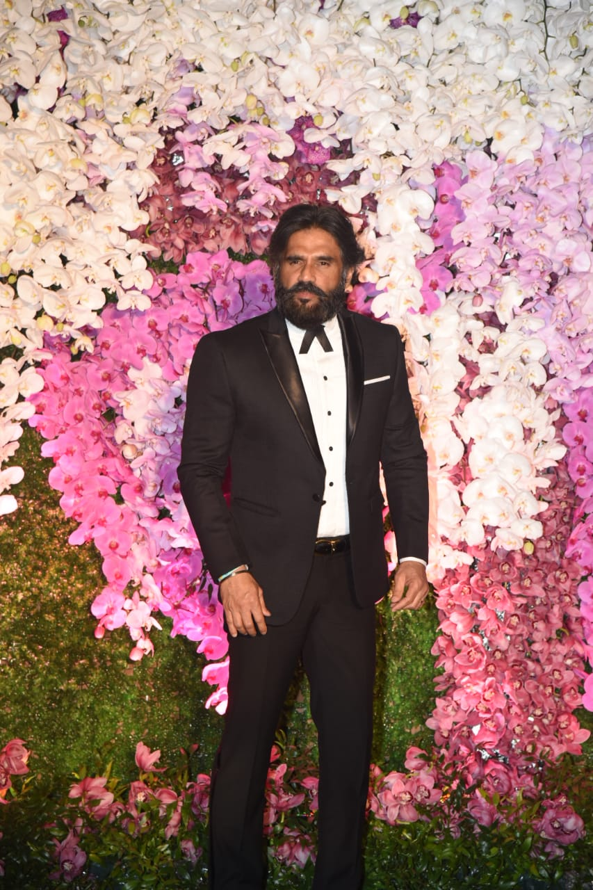 Suneil Shetty Akash Ambani Shloka Mehta Wedding