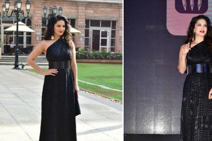 सनी लियोनी ने ब्लैक गाउन में ढाया कहर, 15 तस्वीरों में देखिए बॉलीवुड दीवा का ग्लैमरस अवतार