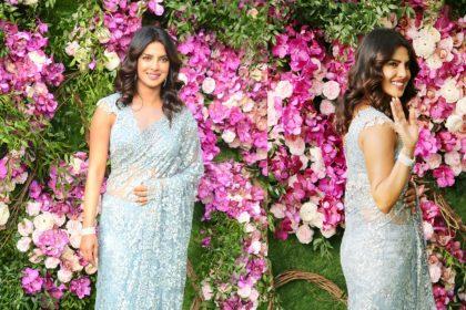 आकाश अंबानी-श्लोका मेहता की शादी में प्रियंका चोपड़ा का दिखा देसी गर्ल अंदाज, तस्वीरों में फैमिली संग आईं नजर