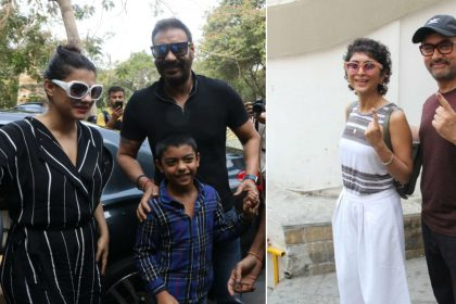लोकसभा चुनाव 2019: अजय देवगन-काजोल और आमिर खान-किरण राव ने डाला वोट, देखिए पोलिंग बूथ के बाहर की तस्वीरें