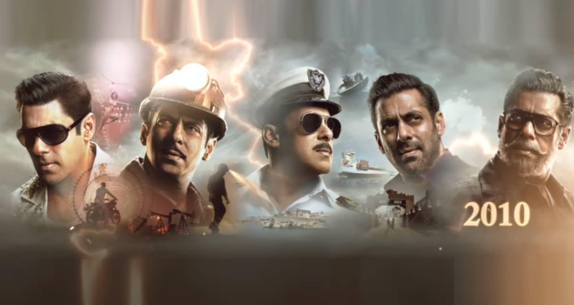 सलमान खान ने शेयर किया फिल्म भारत का मोशन पोस्टर, 1964 से लेकर 2010 तक के पांच लुक में दिखे भाईजान