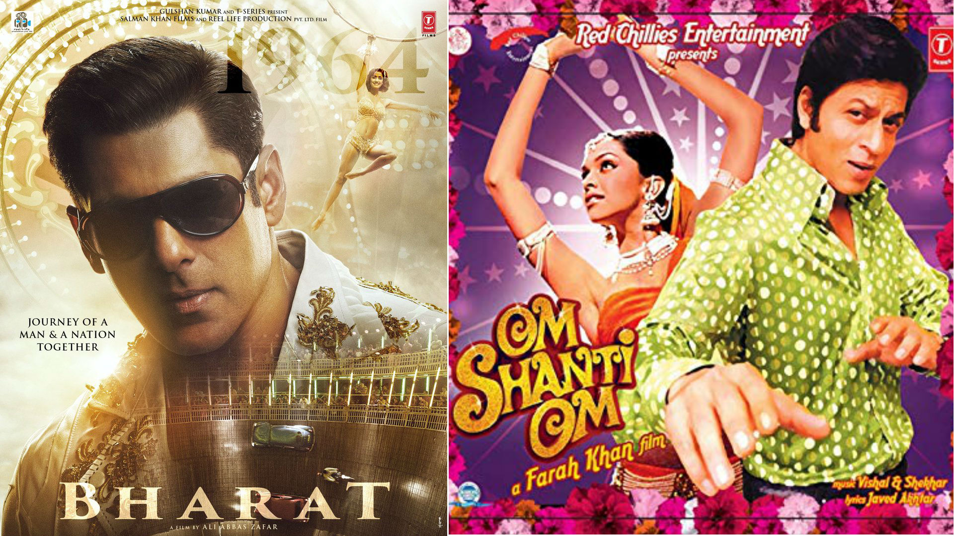 फिल्म भारत के सलमान से लेकर ओम शांति ओम के शाहरुख खान तक, जब रेट्रो लुक में दिखे बॉलीवुड के ये हीरो